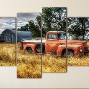 Other - NEW - Farm Truck in field on canvas